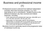 business and professional income 1