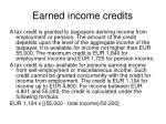 earned income credits
