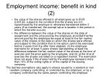 employment income benefit in kind 2