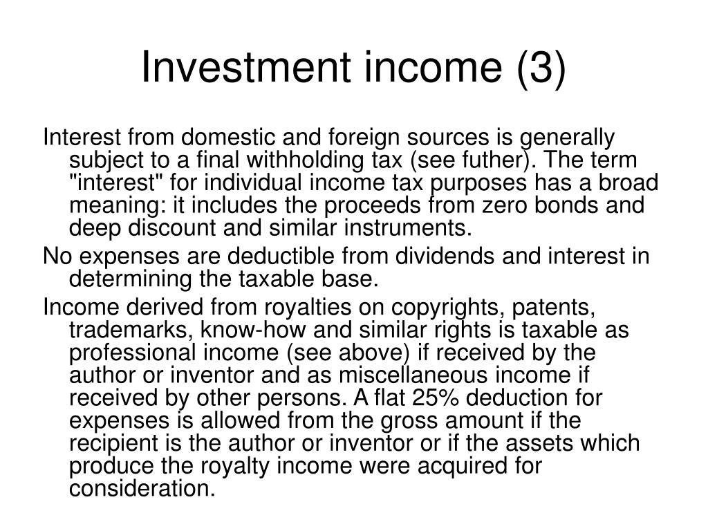 Investment income (3)