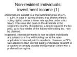 non resident individuals investment income 1