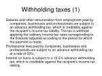 withholding taxes 1