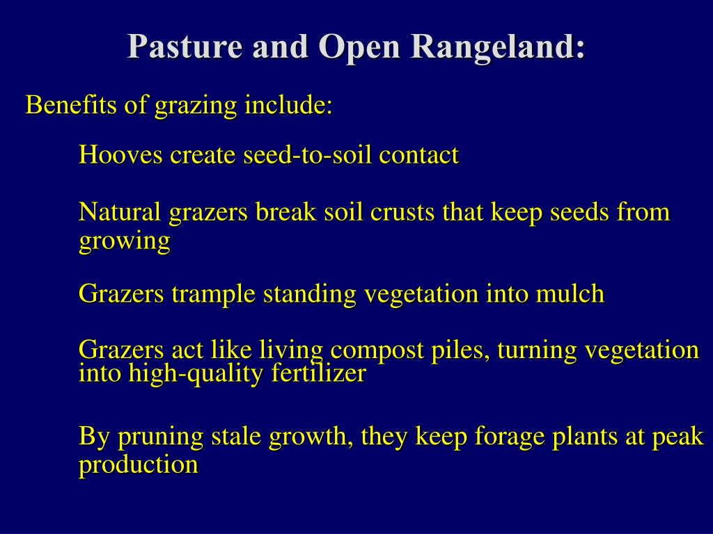 Pasture and Open Rangeland: