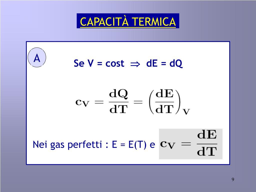CAPACITÀ TERMICA