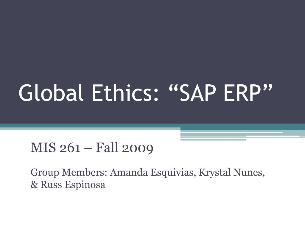 global ethics sap erp l.