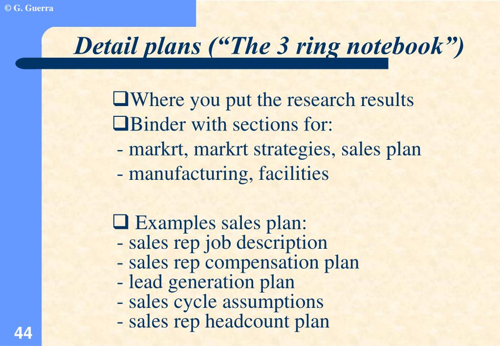"""Detail plans (""""The 3 ring notebook"""")"""
