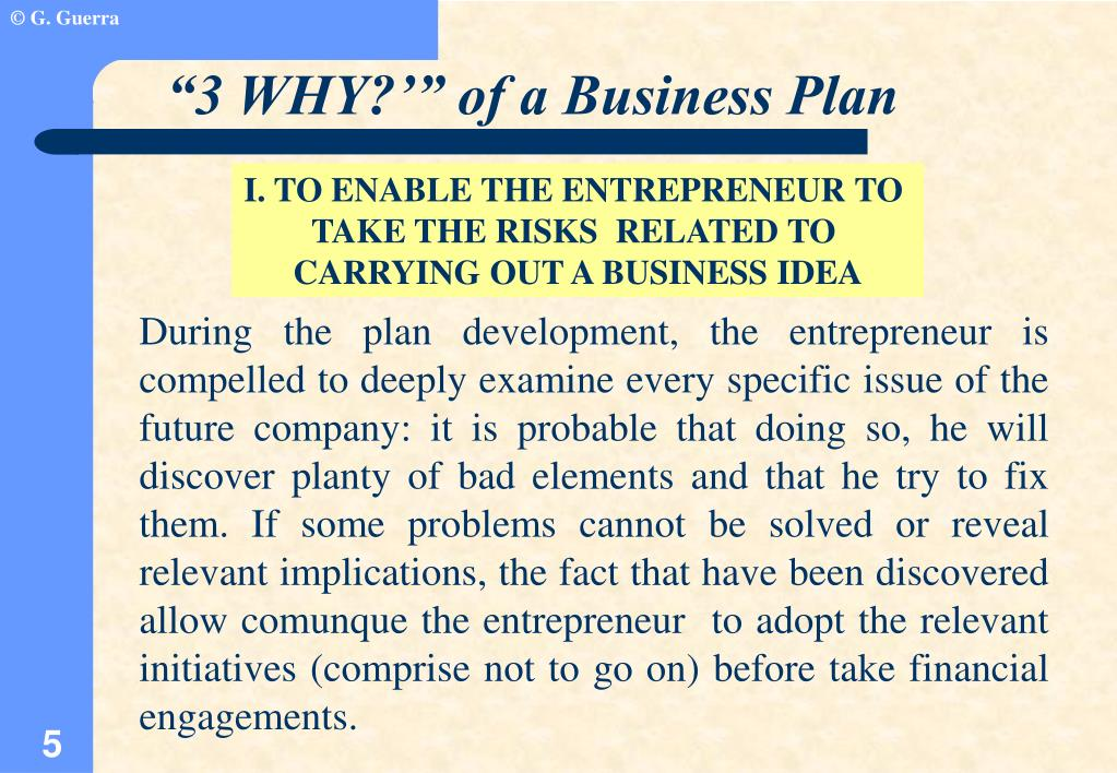 """""""3 WHY?'"""" of a Business Plan"""