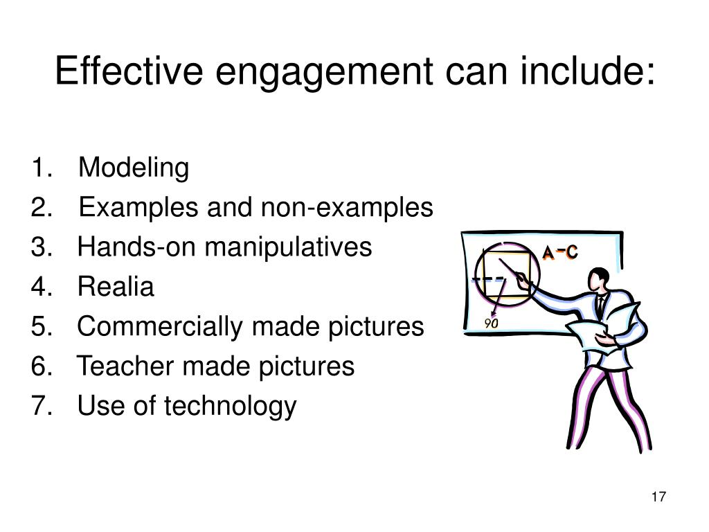 Effective engagement can include: