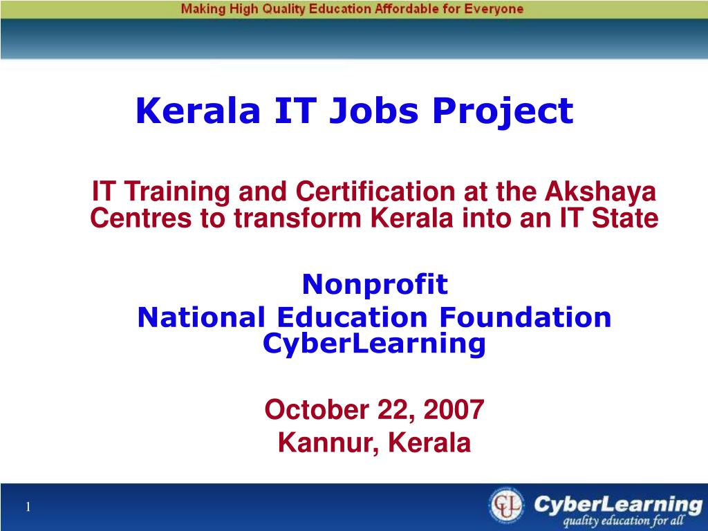 kerala it jobs project l.