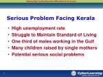 serious problem facing kerala