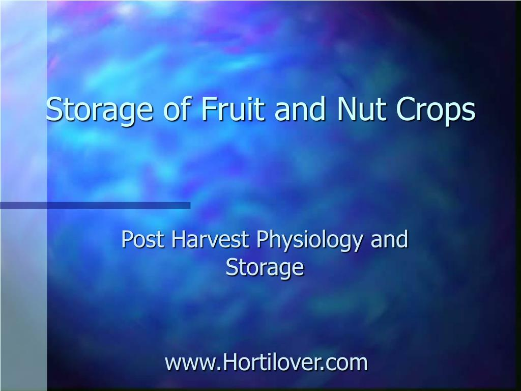 storage of fruit and nut crops l.