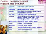 proposed locations of planned vegetable seed production10