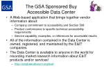 the gsa sponsored buy accessible data center