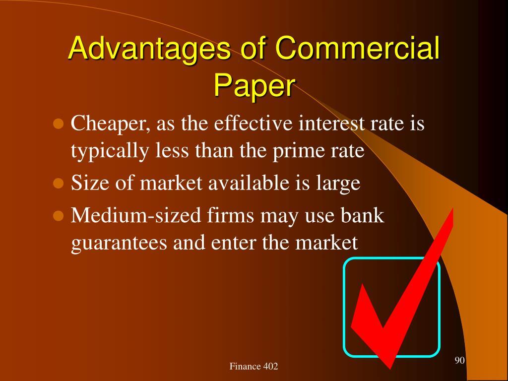 Advantages of Commercial Paper