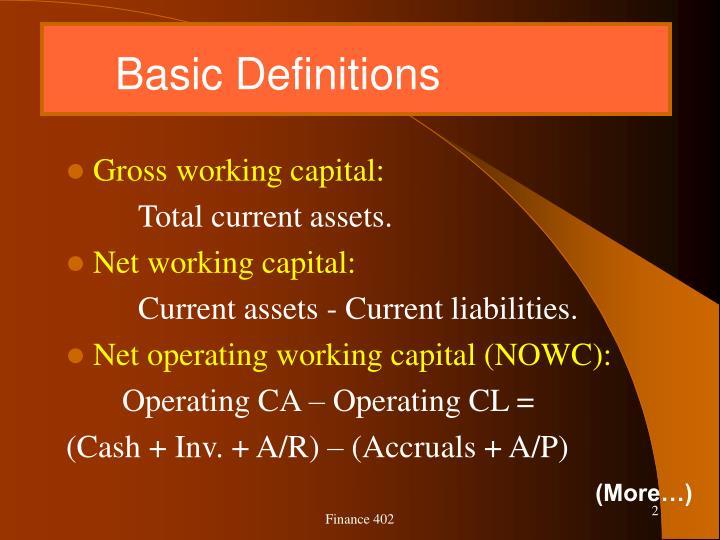 Basic definitions