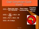 cash conversion cycle cont