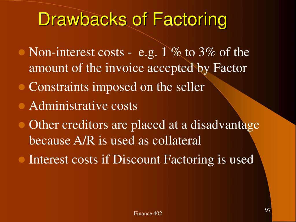 Drawbacks of Factoring