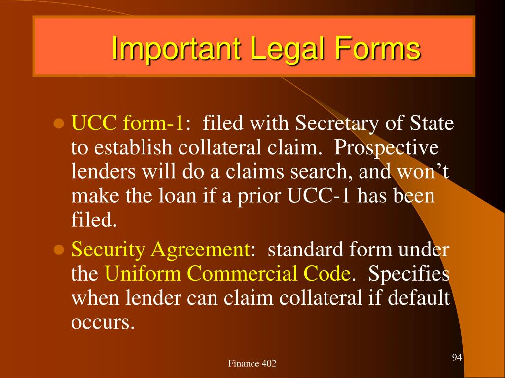 Important Legal Forms