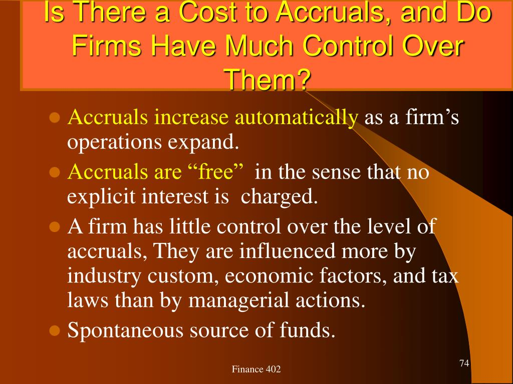 Is There a Cost to Accruals, and Do Firms Have Much Control Over Them?