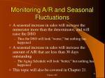 monitoring a r and seasonal fluctuations
