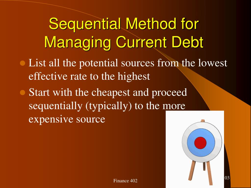 Sequential Method for Managing Current Debt