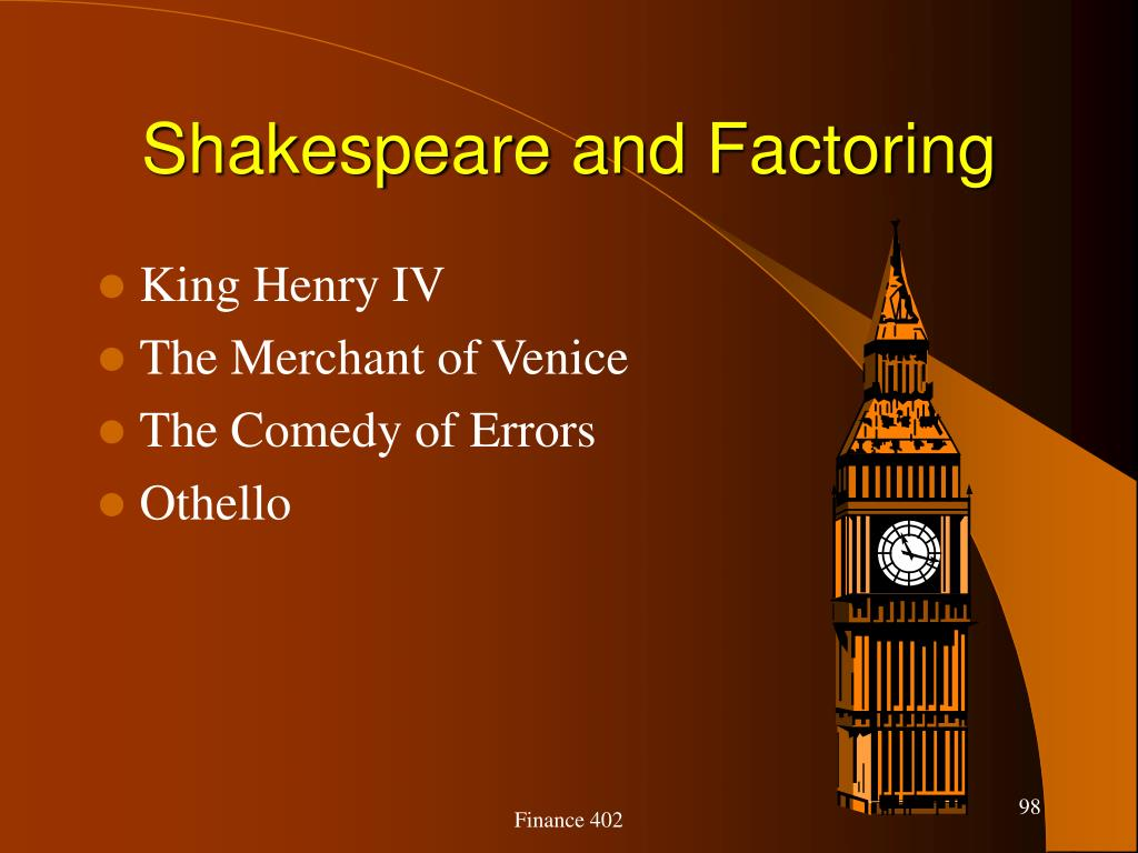 Shakespeare and Factoring