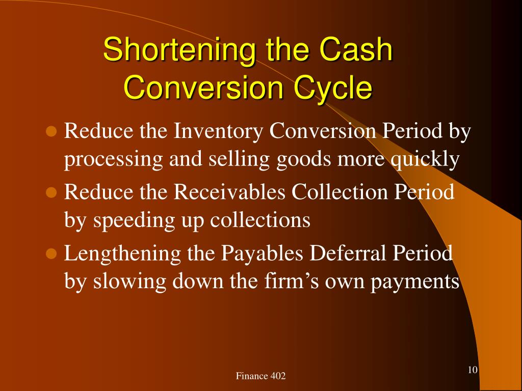 Shortening the Cash Conversion Cycle