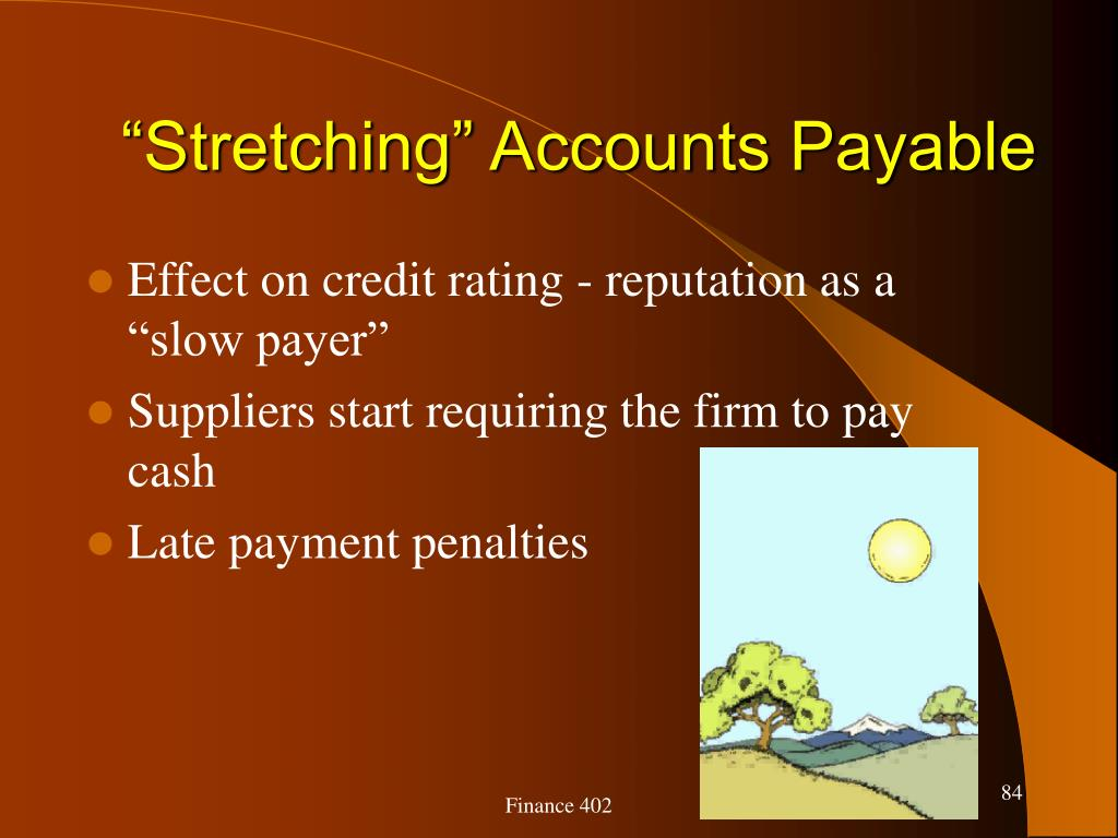 """Stretching"" Accounts Payable"