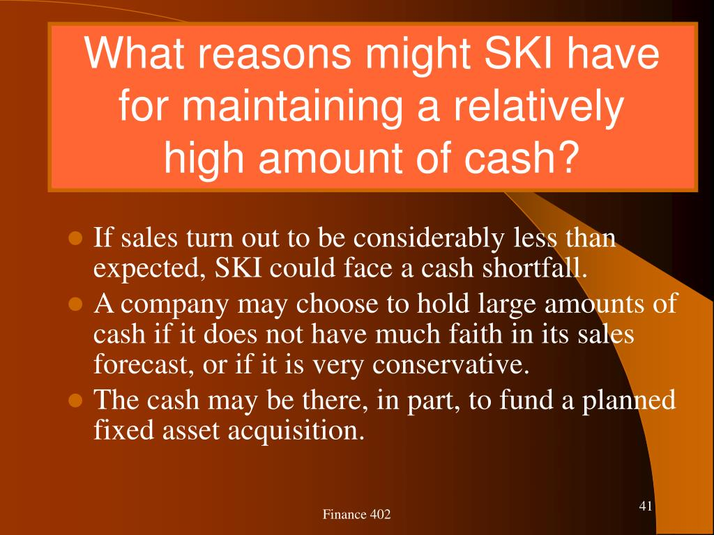What reasons might SKI have for maintaining a relatively