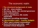 the economic realm