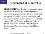 a definition of leadership