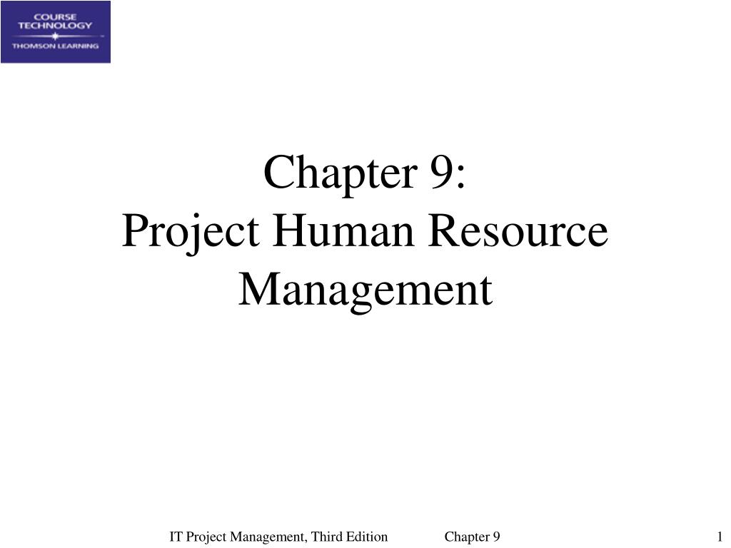 chapter 9 project human resource management l.