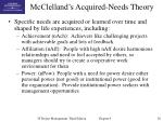 mcclelland s acquired needs theory
