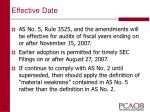 effective date