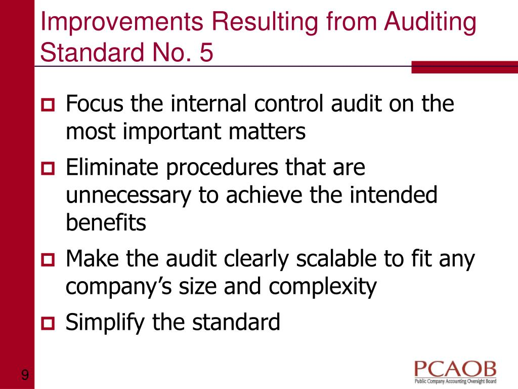 Improvements Resulting from Auditing Standard No. 5