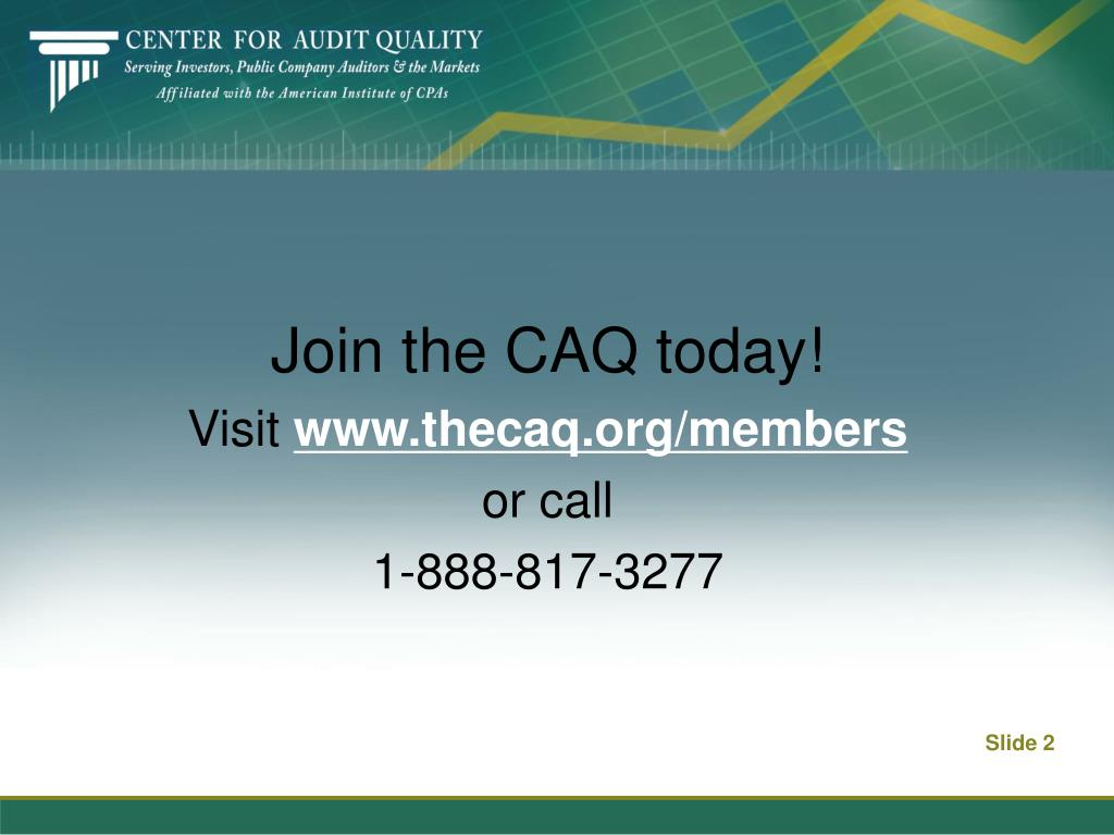 Join the CAQ today!
