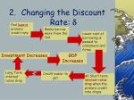 changing the discount rate d44