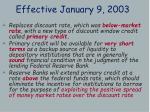 effective january 9 2003