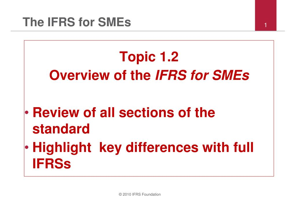 the ifrs for smes l.