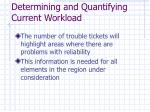 determining and quantifying current workload8