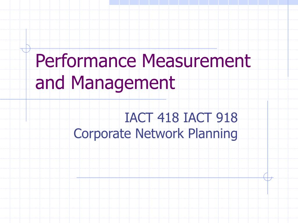 performance measurement and management l.