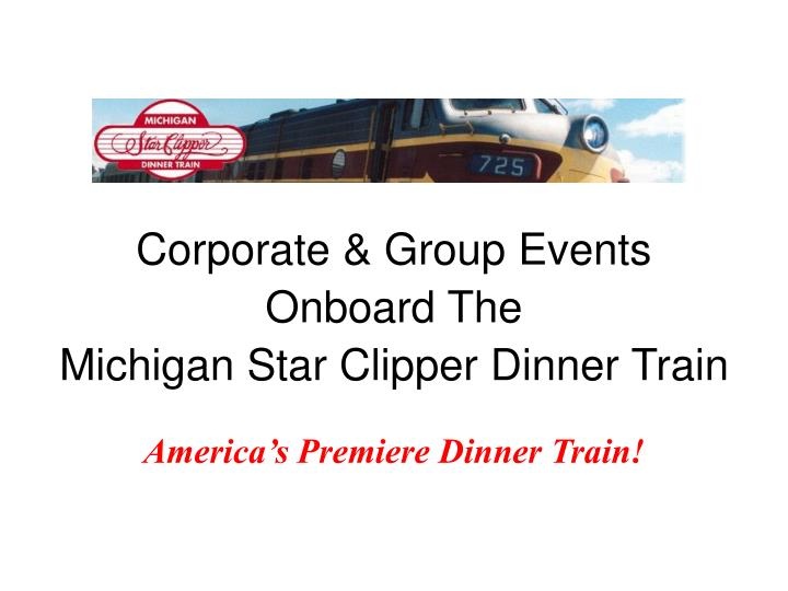 Corporate & Group Events