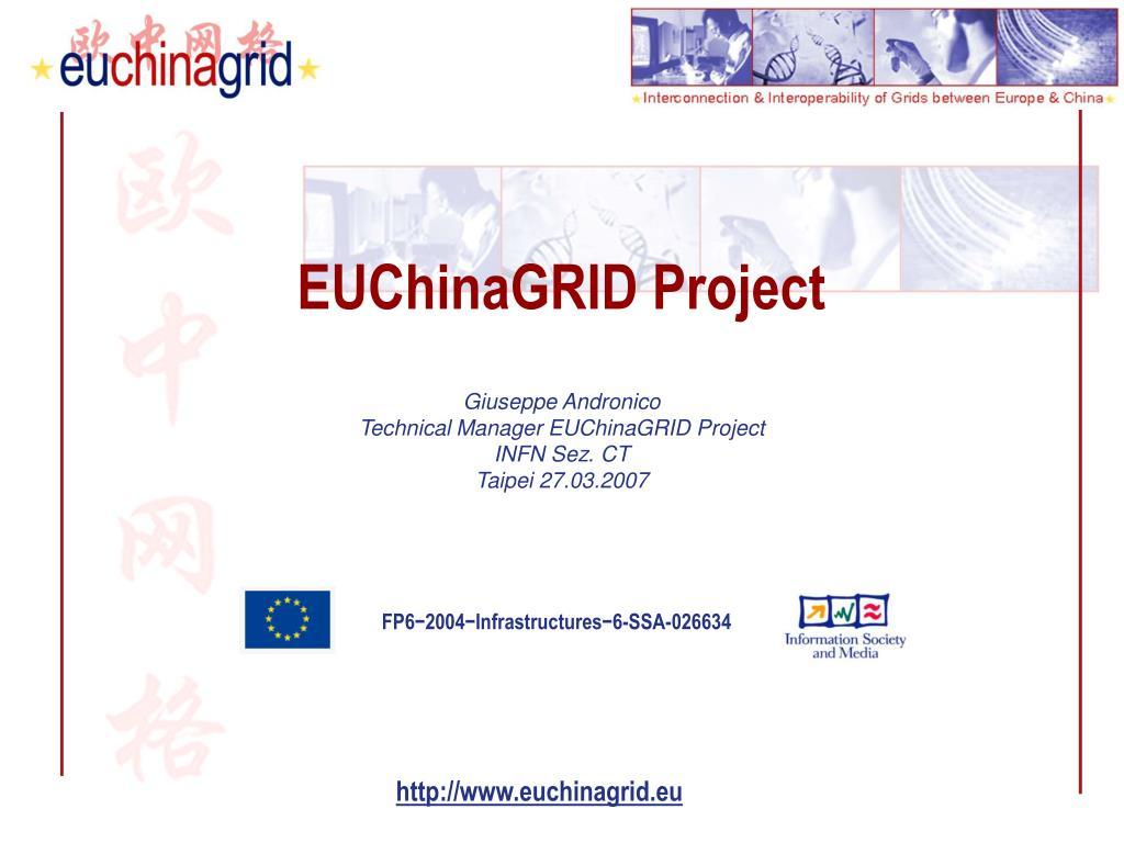 euchinagrid project l.