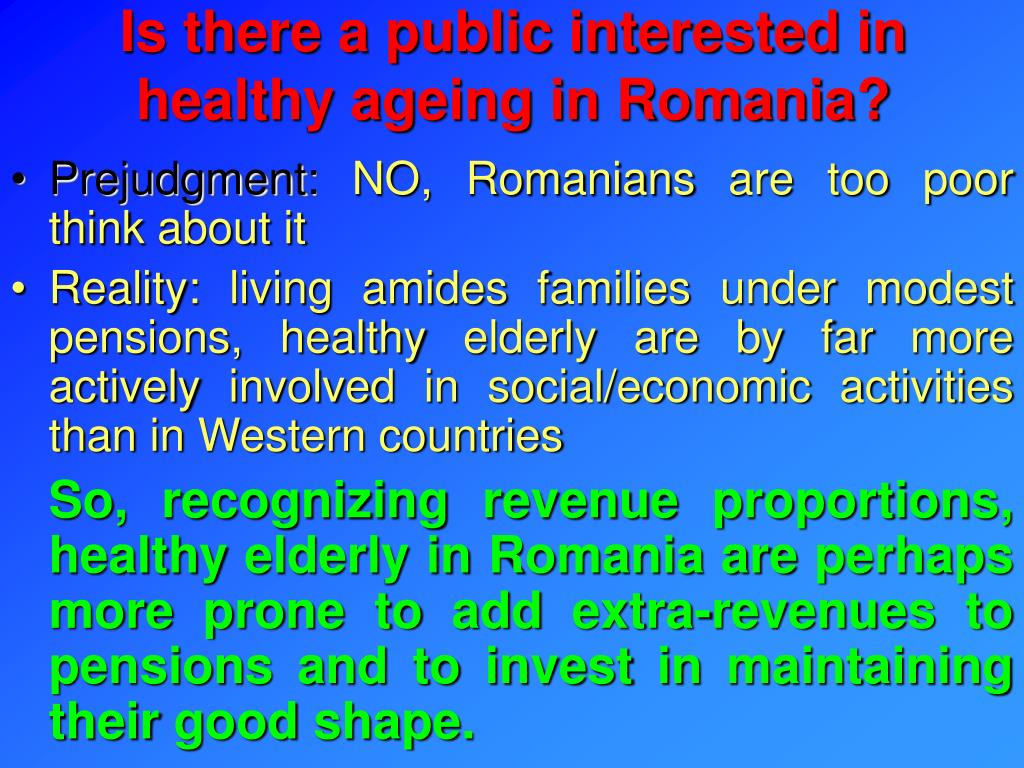 Is there a public interested in healthy ageing in Romania?