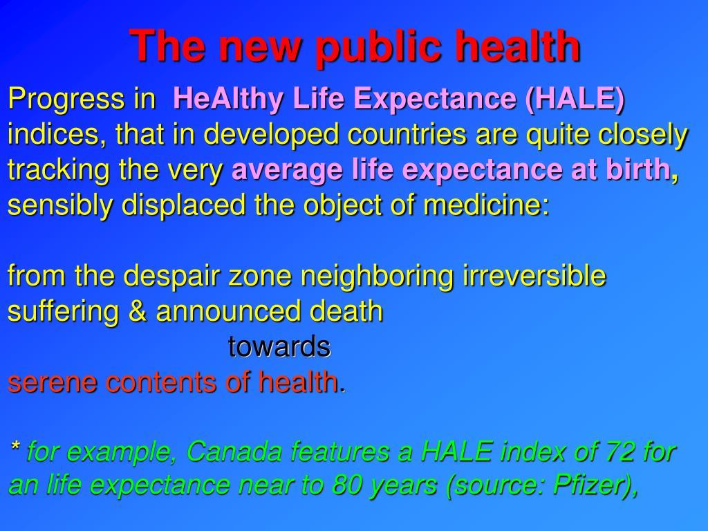 The new public health