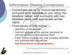 information sharing connections