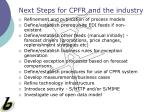 next steps for cpfr and the industry