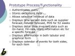 prototype process functionality