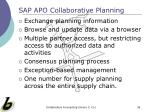 sap apo collaborative planning