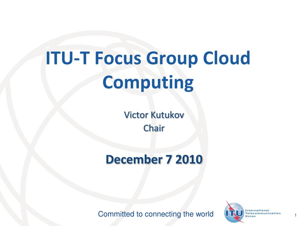 itu t focus group cloud computing l.